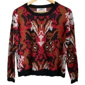 Sweaters - Multicolored Knit Crewneck Silk Sweater, size M